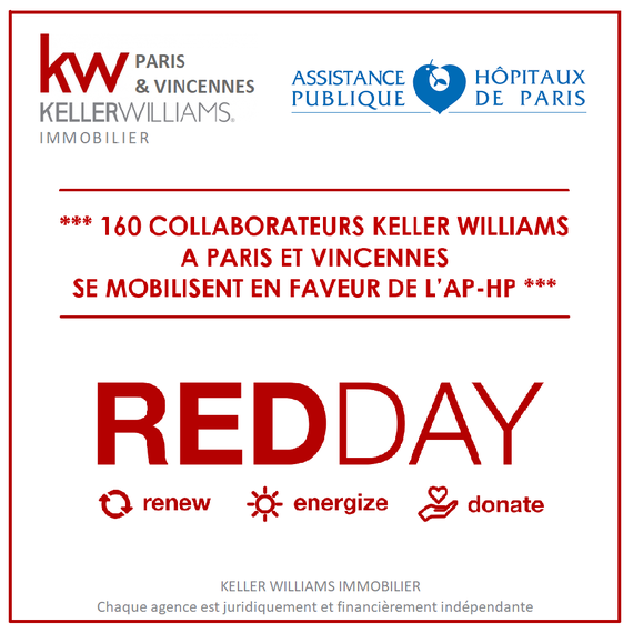 KELLER WILLIAMS IMMOBILIER en soutien à l'AP-HP