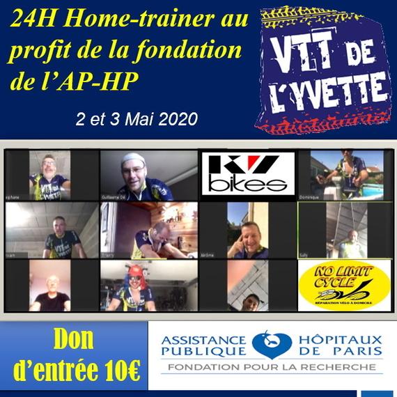 Les 24H en Home-Trainer au profit de la Fondation pour la recherche de l'APHP les 2 et 3 MAI 2020